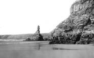 Bedruthan Steps, The Shore And Queen Elizabeth Rock c.1955