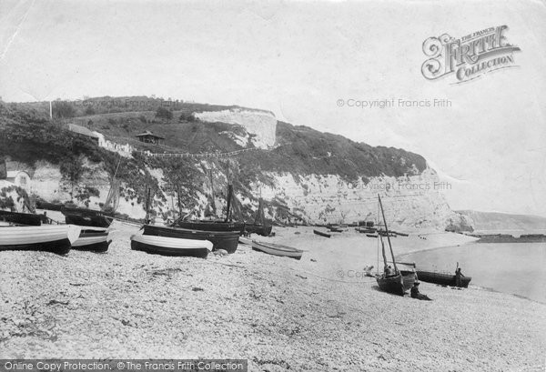 Beer, East Cliff From Beach 1907