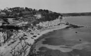 Beer, The Beach Looking East c.1965