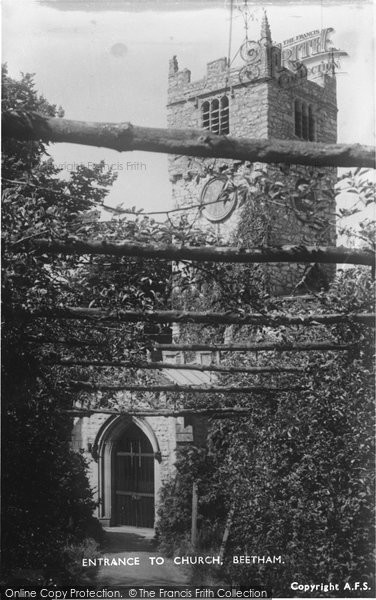 Beetham, Entrance To St Michael's Church 1954
