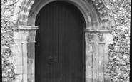 Bekesbourne, The Norman Doorway, St Peter's Church 1952