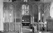 Belaugh, Church Interior 1921