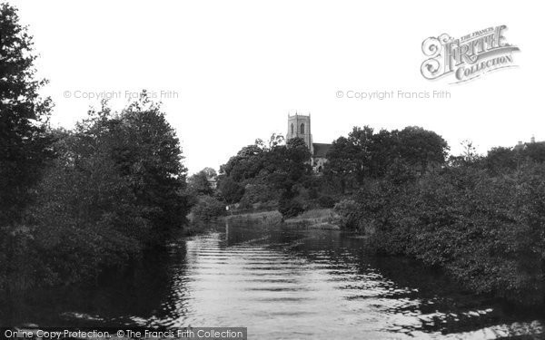 Belaugh, St Peter's Church And The River Bure c.1930