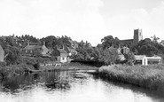 Belaugh, St Peter's Church From The River Bure c.1930