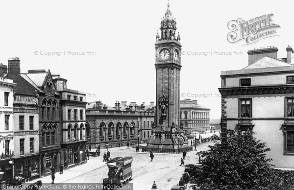Belfast, The Albert Memorial And Clock Tower 1897