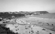 Benllech Bay, The Beach And Cafe c.1955