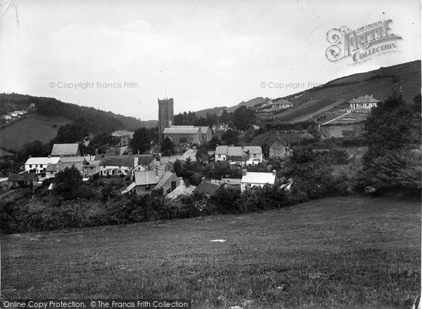 Berrynarbor, The Village And St Peter's Church 1934