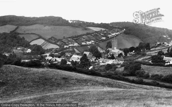 Berrynarbor, Village And Haggington Hill 1934