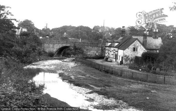 Bersham, The Bridge And Old House 1936