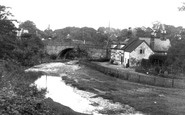 Bersham, The Bridge And Old House c.1936