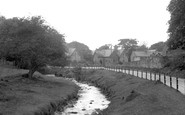 Bersham, The River Clywedog And Road c.1936
