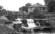 Bersham, Waterfall And Footbridge c.1936
