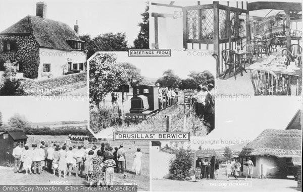 Berwick, Drusilla's Park, Composite c.1955