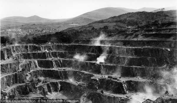 Bethesda, Blasting At Penrhyn Quarry c.1955