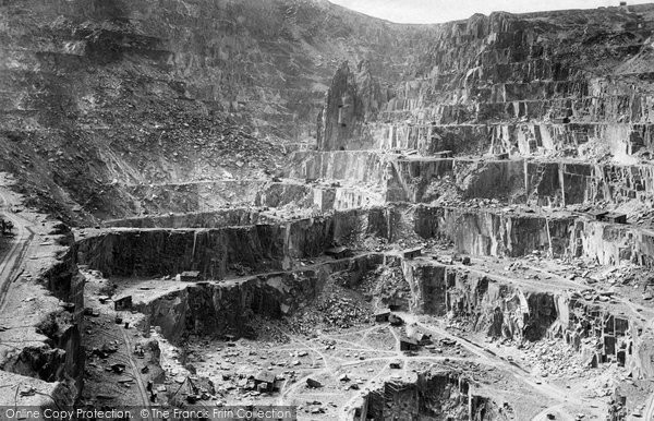Bethesda, Penrhyn Slate Quarries 1890