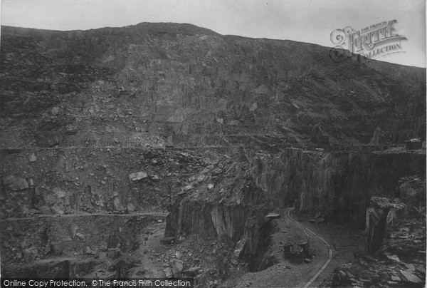 Bethesda, Penrhyn Slate Quarries 1896