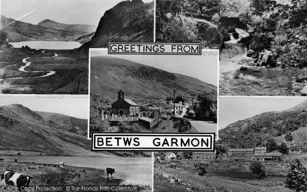 Betws Garmon, Greetings c.1955