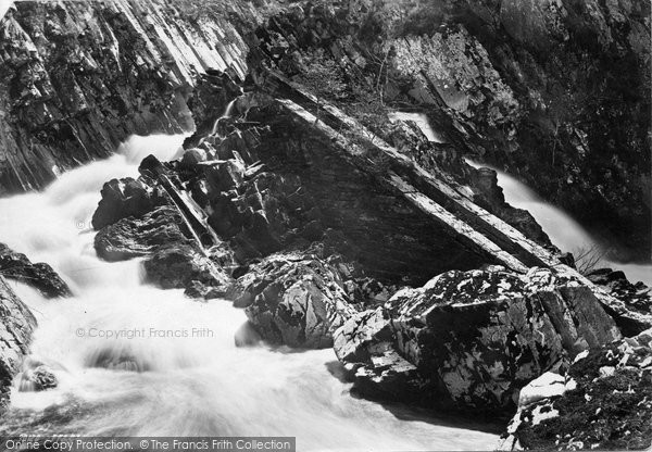 Betws Y Coed, Conway Falls Salmon Ladder 1892