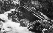 Betws-Y-Coed, Conway Falls Salmon Ladder 1892