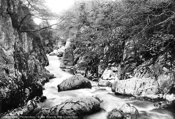 Betws Y Coed, Fairy Glen From Jubilee Bridge 1892