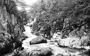 Betws-Y-Coed, Fairy Glen From Jubilee Bridge 1892
