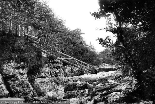Betws Y Coed, Miner's Bridge 1891