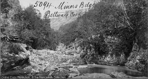 Betws Y Coed, Miners Bridge c.1870