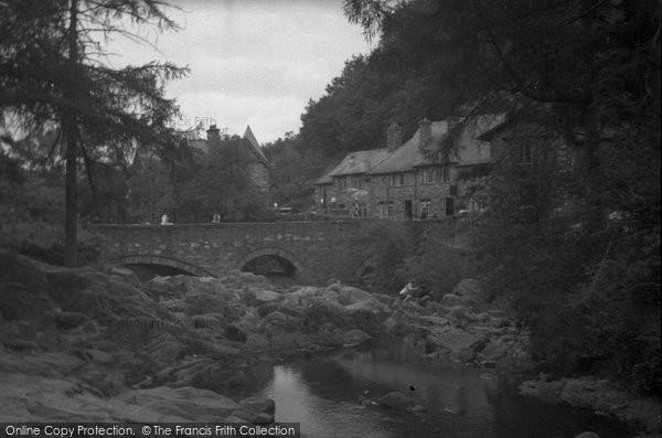Betws Y Coed, Pont Y Pair Bridge c.1952