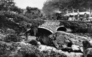 Betws-Y-Coed, Pont Y Pair From The Falls c.1890