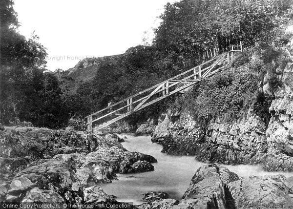 Betws Y Coed, The Miner's Bridge c.1870