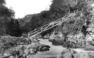 Betws-Y-Coed, The Miner's Bridge c.1870