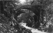 Betws-Y-Coed, The Roman Bridges c.1930