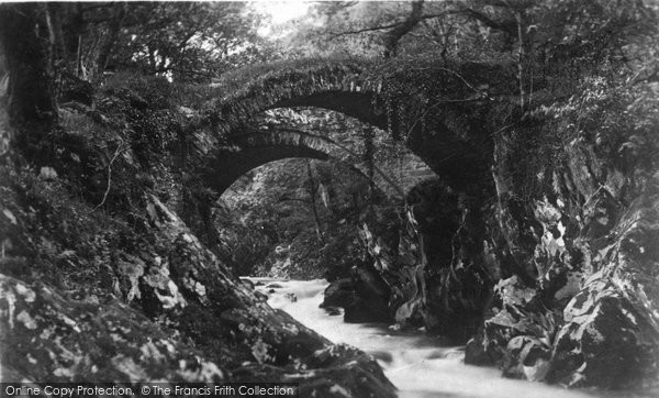 Betws Y Coed, The Roman Bridges c.1935