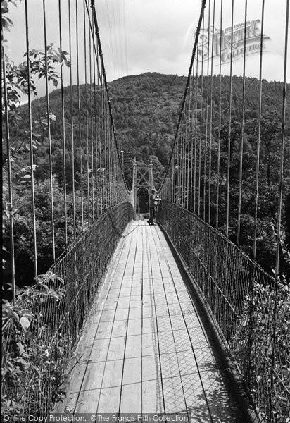 Betws Y Coed, The Suspension Bridge 1953