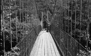 Betws-Y-Coed, The Suspension Bridge 1953