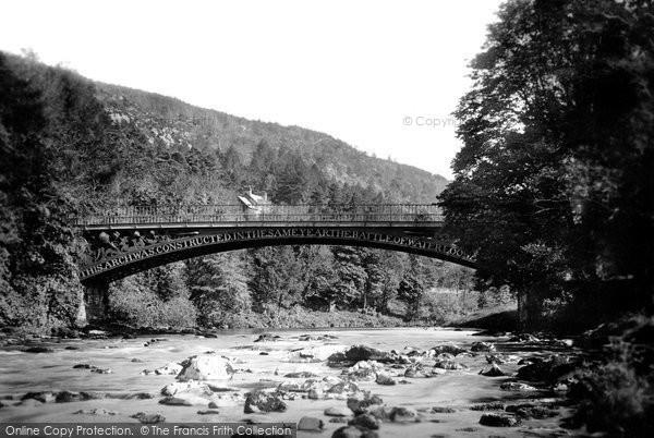 Betws Y Coed, Waterloo Bridge 1892