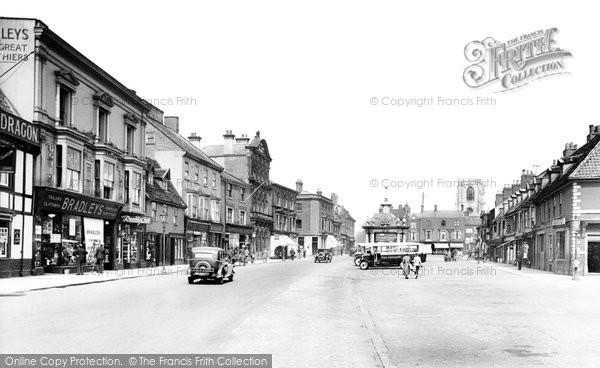 Beverley, Market Place 1934