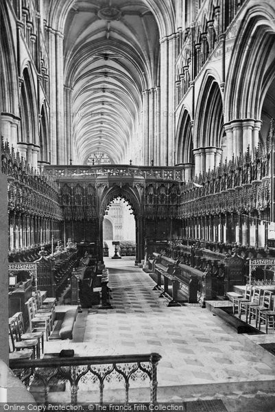 Beverley, Minster, Choir West c.1869