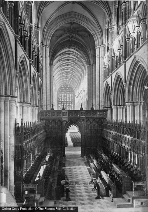 Beverley, Minster, Choir West c.1869