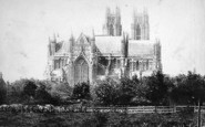 Beverley, Minster From The East c.1885