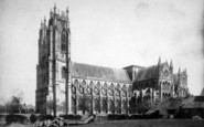 Beverley, Minster From The South West c.1885