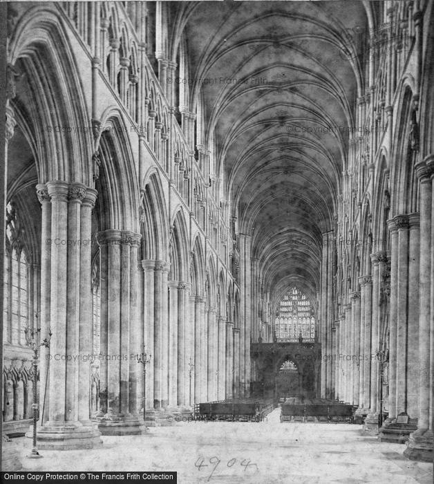 Beverley, Minster, Nave East c.1869