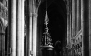 Beverley, Minster, The Font, South Aisle c.1955