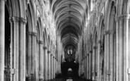 Beverley, Minster, The Nave c.1955