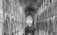 Beverley, Minster, The Nave East c.1885