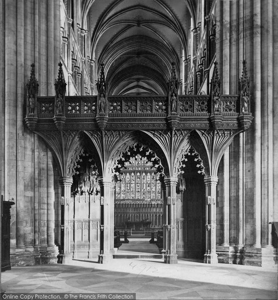 Beverley, Minster, The Screen c.1869