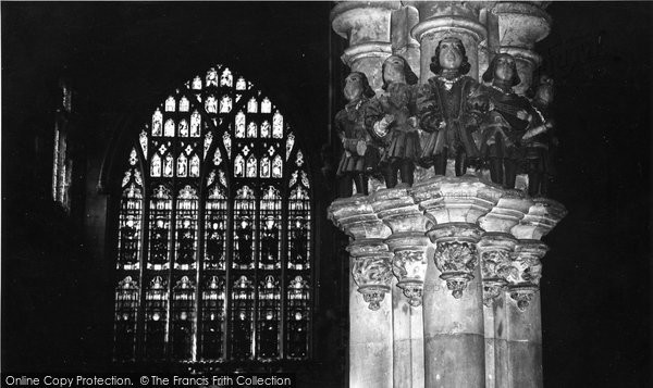 Beverley, Minstrels' Pillar, St Mary's Church c.1965
