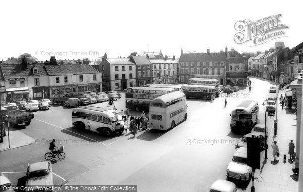 Beverley, Saturday Market c.1965