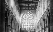 Beverley, St Mary's Church, Nave West c.1890
