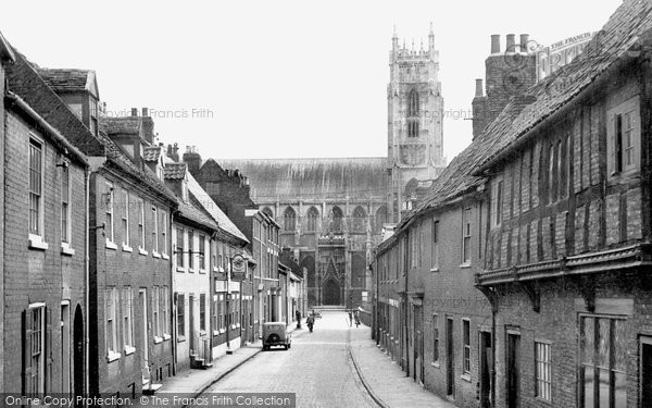 Beverley, The Minster From Highgate c.1955